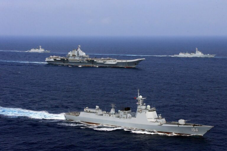 Chinese warship the Liaoning sails through Miyako Strait on way to Pacific Ocean for drills