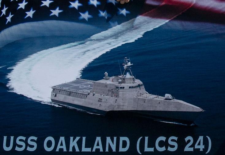 The U.S. Navy will Christen  USS Oakland on June 29.