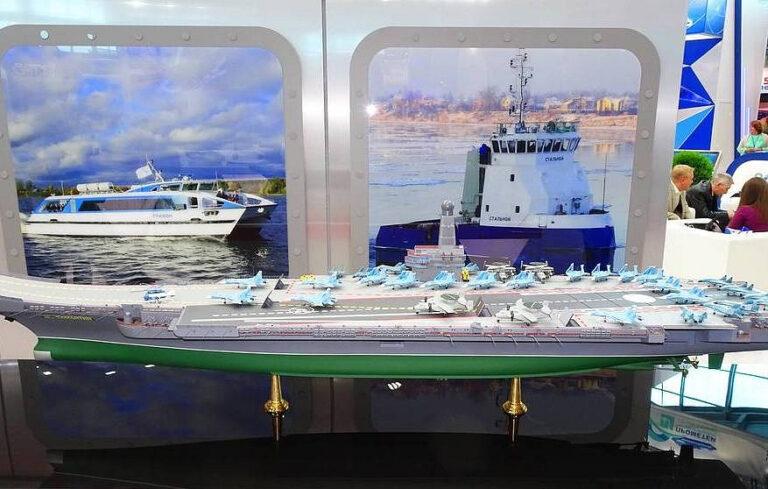 Russian design bureau unveils new nuclear-powered aircraft carrier project
