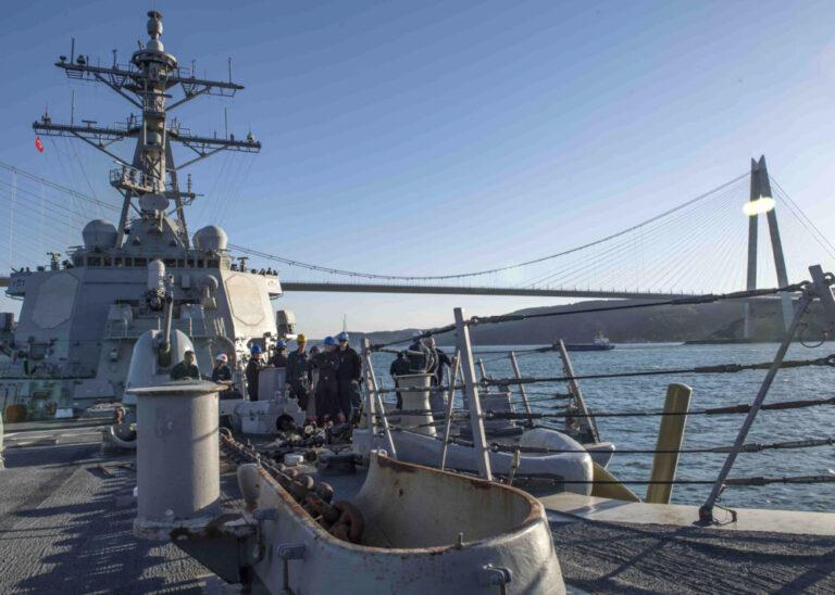 USS Carney Arrives in Odesa, Ukraine