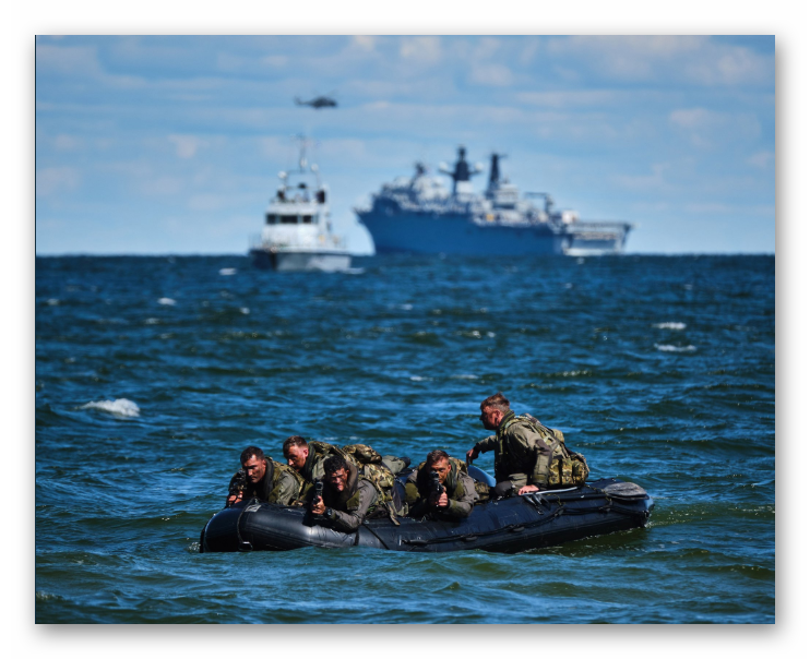 Baltic Protector Task Group Conducted Amphibious Exercise on Estonia Coast