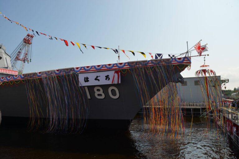 Second Maya-Class Destroyer Haguru is Launched for JMSDF