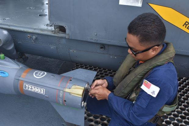 Malaysian Navy Launched Guided Missiles at South China Sea