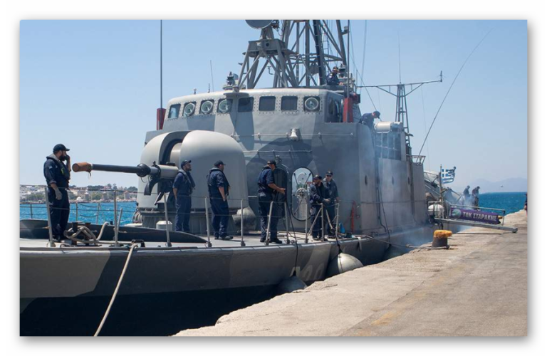 The Hellenic Navy Ship is used for National Elections