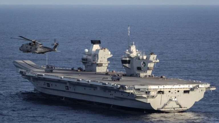 HMS Queen Elizabeth conducted trial firing exercise with her new Phalanx