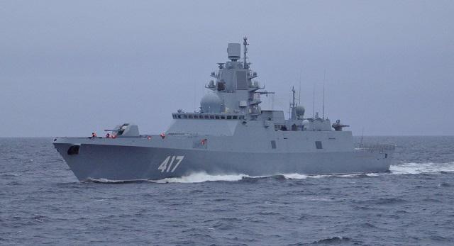 Admiral Gorshkov conducts ASW drills in Atlantic