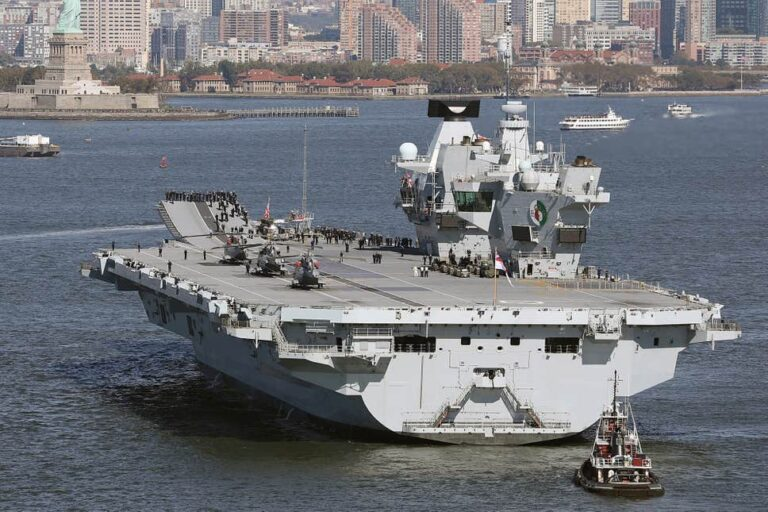 UK's Newest Aircraft Carrier Forced to Return to Base Due to Leak