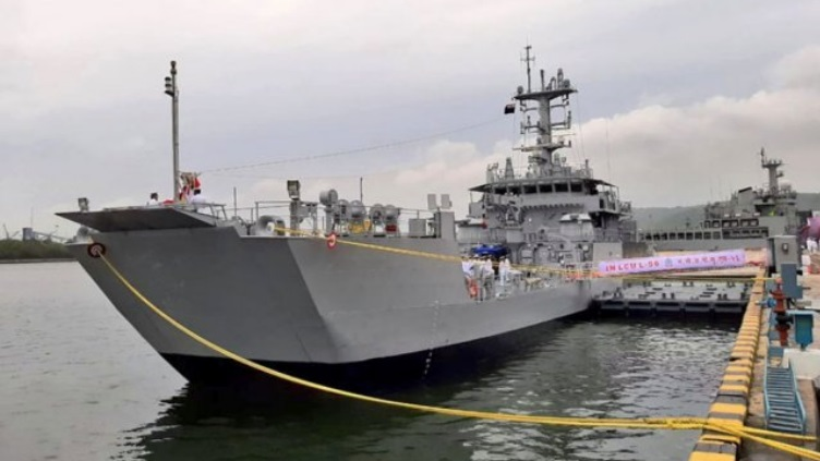 Indian Navy Comissioned 6th LCU MK-IV Amphibious Ship