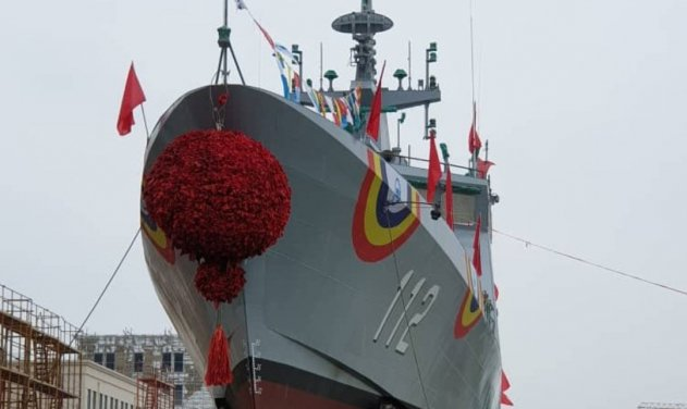 Malaysian Navy's Second Littoral Mission Ship is Launched At China