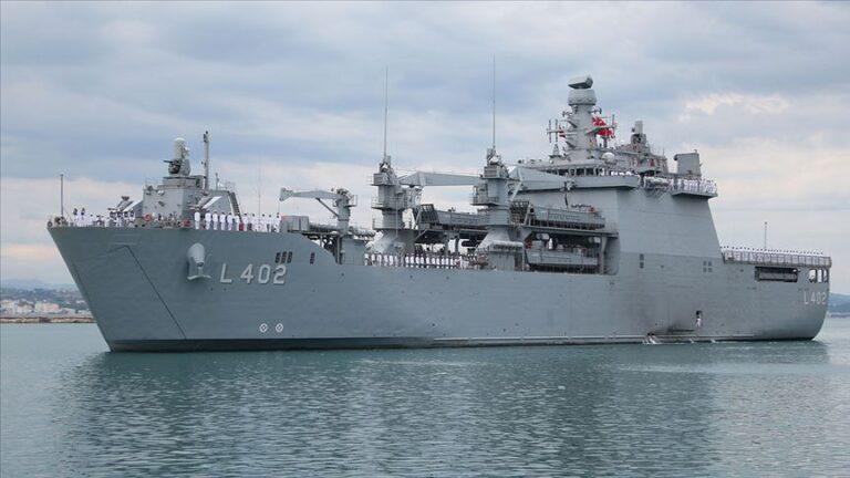 Turkish Local-Built Amphibious Landing Ship BAYRAKTAR Visited Albania