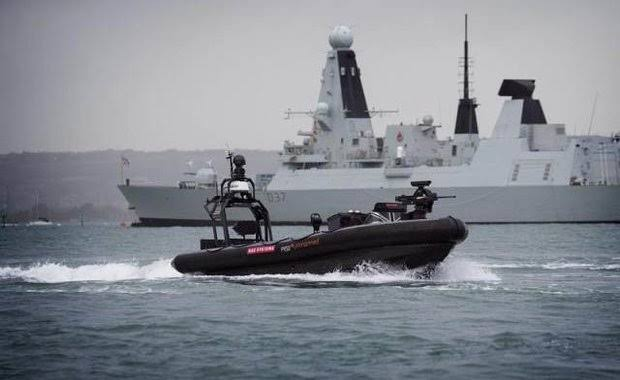 BAE Systems Equipped Drone Boats with Guns