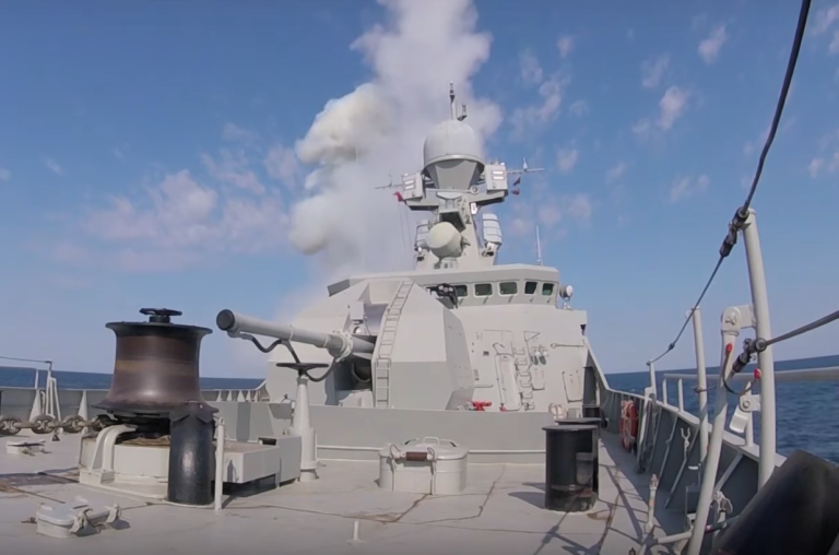 Russian Military Releases Video of Kalibr Missile Launch in Black Sea