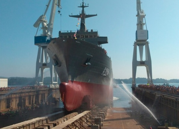 Navantia Launched the Second Supply Class Tanker for the Australian Navy