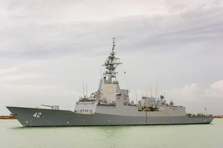 The Newest Hobart Class Destroyer of Australia Begins Sea Trials