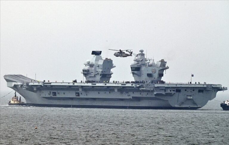 Royal Navy's Second Aircraft Carrier Makes Debut at Sea