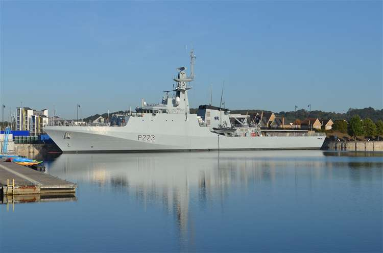 Royal Navy Welcomes the Newest Offshore Patrol Vessel HMS Medway