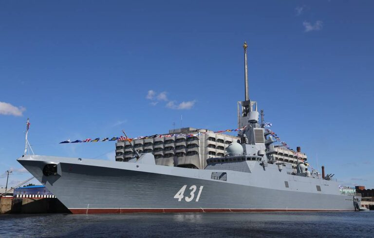 Russian Navy's Newest Frigate on State Trials