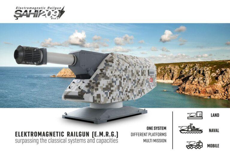 "Turkish Indigenous Rail Gun ""Şahi-209"" to be Integrated to Naval Assets"