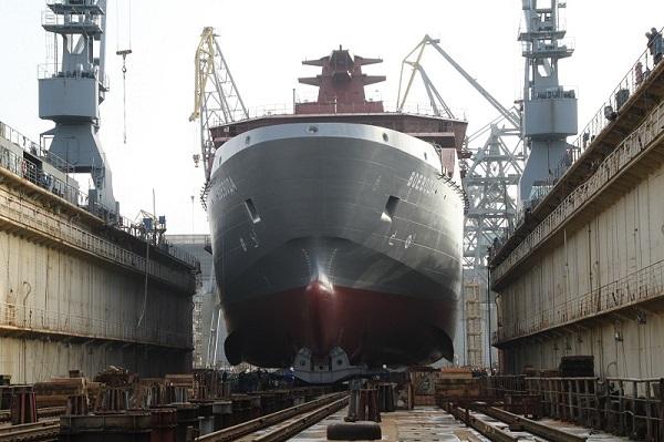 Yantar Shipyard Launches Voyevoda as lead rescue ship of Project 23700