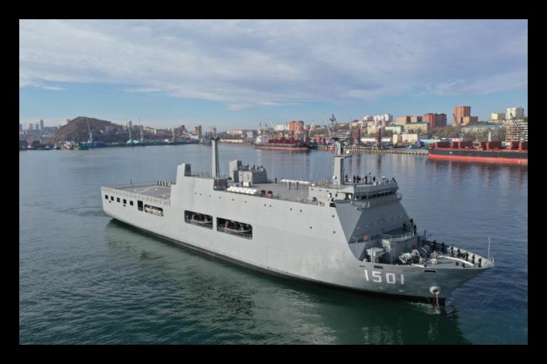 Myanmar Navy's Newest LPD visited Vladivostok