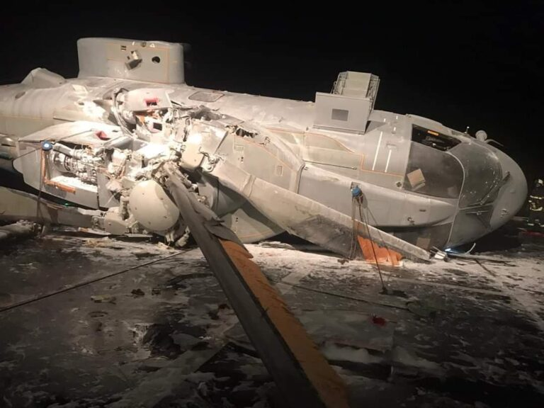 Helicopter Crash Occurred on Italian Destroyer