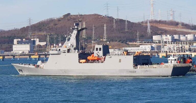 Philippine Navy's first Jose Rizal Class frigate undergoes sea trials