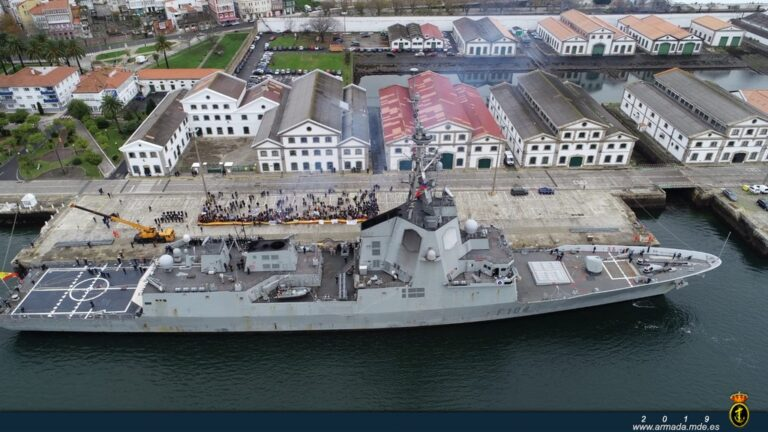 Spanish frigate Mendez Nunez back to home after 7 months of deployment