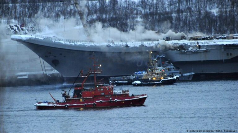 Lethal fire occurred onboard Russian Aircraft Carrier, Kuznetsov