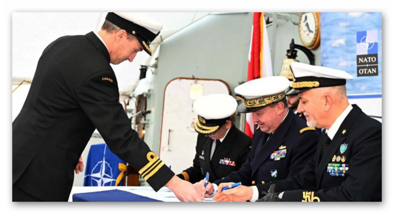 Canada handed over command of SNMG-2 to Italy