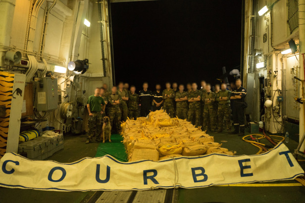 French Frigate Courbet Seized 3.5 tons of drugs at the Gulf of Oman