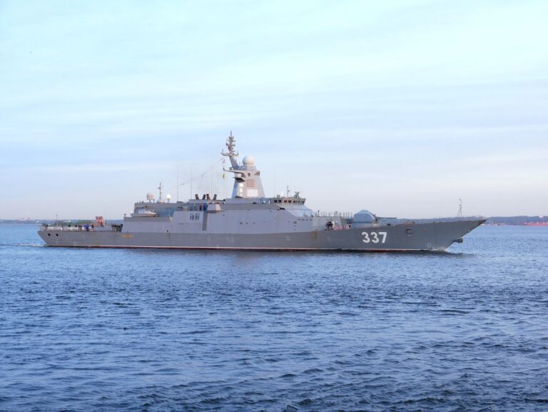 First Gremyashchiy Class Corvette of the Russian Navy Starts Sea Trials