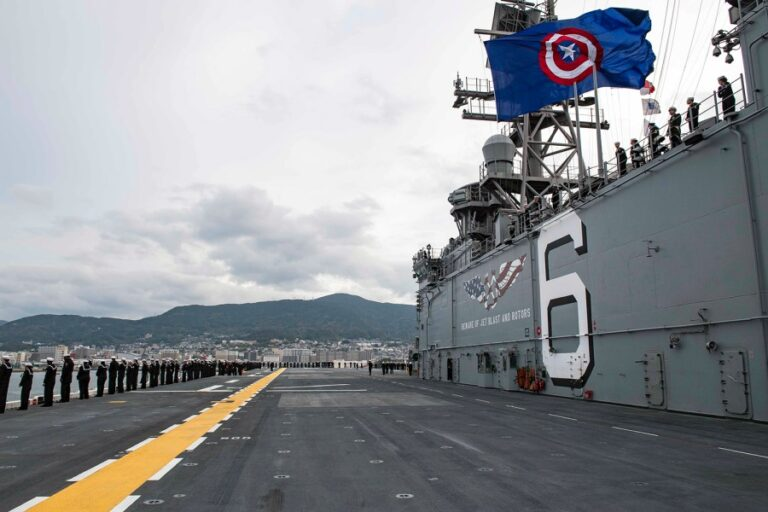 USS America arrives in Sasebo of Japan to Replace USS Wasp