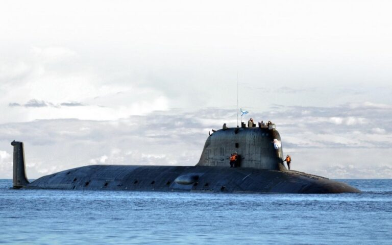 Russia's newest Yasen-M class nuc-powered sub test-fires torpedo in the White Sea
