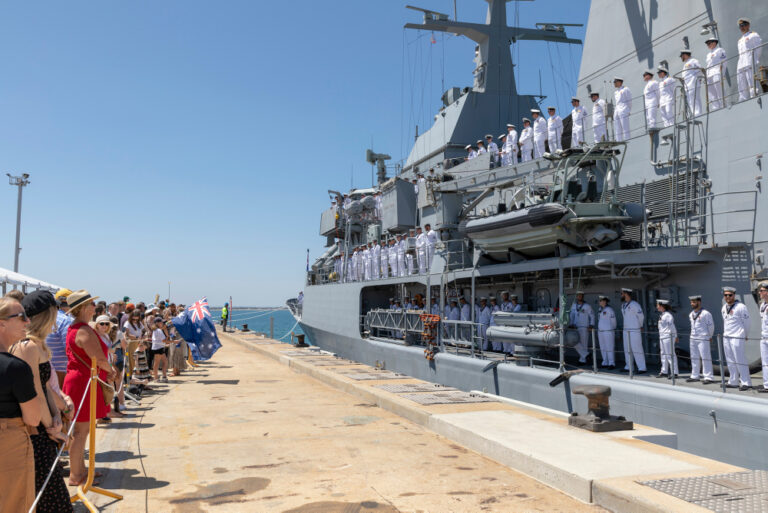 HMAS Toowoomba leaves home for sixth Middle East deployment