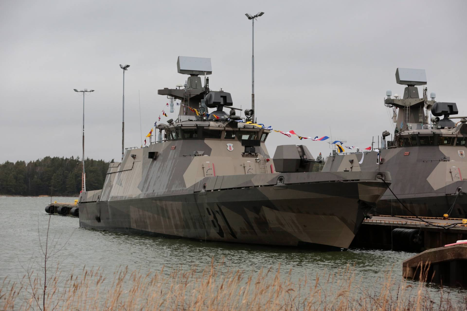 The Finnish Navy received the first upgraded Hamina-Class Missile Boat