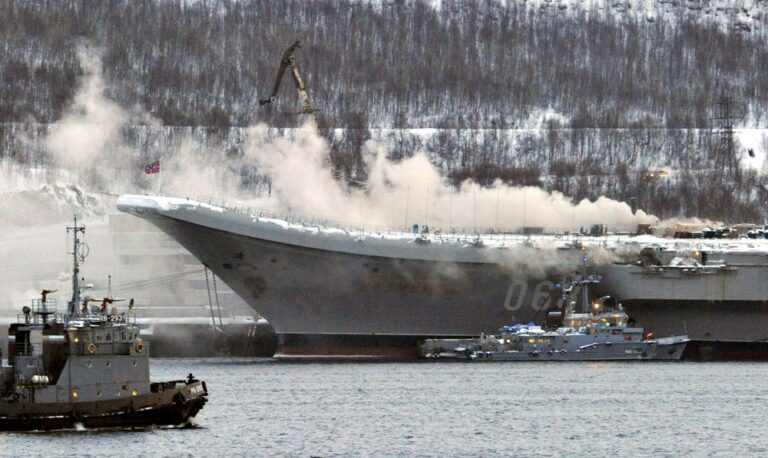 Estimated cost of the fire occurred at Russian Carrier Kuznetsov