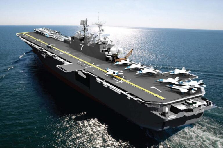 HII Delivers Amphibious Assault Ship USS Tripoli to the U.S. Navy