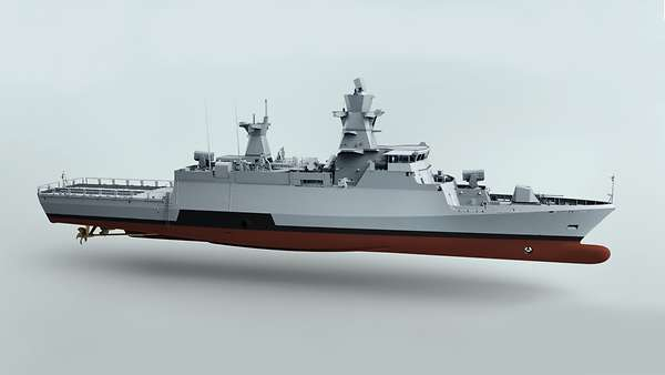 Keel laying for the second K130 Batch 2 Corvette of German Navy