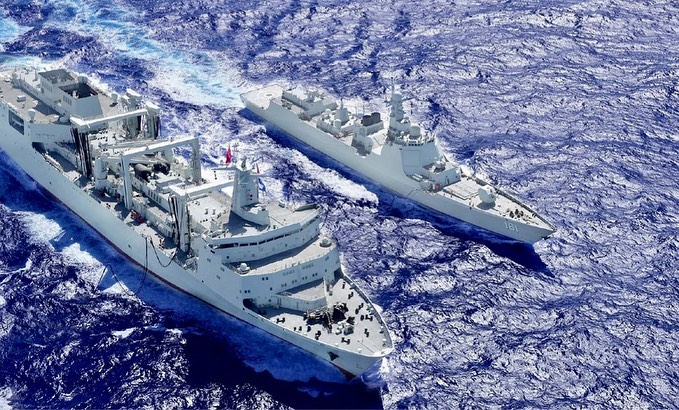 China navy drills in Pacific