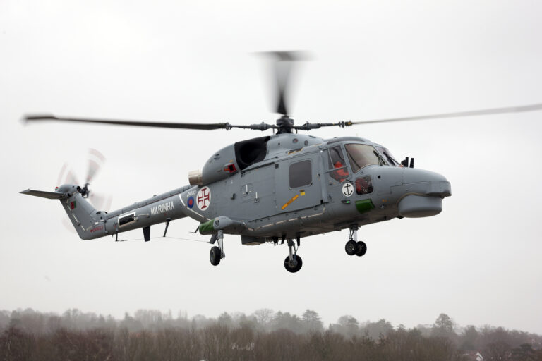 Modernized Lynx 95 Helos of the Portuguese Navy Conducts First Flight