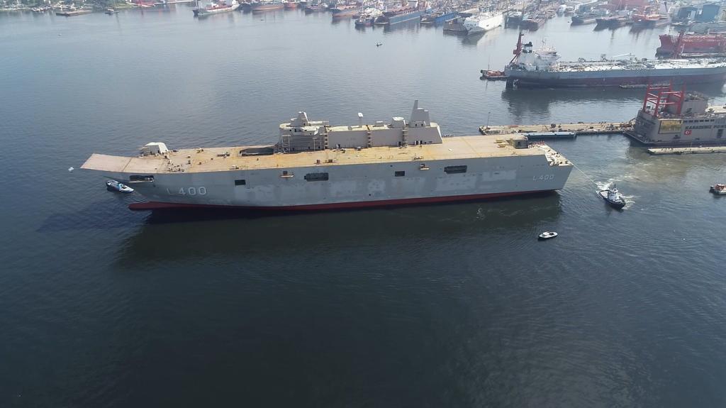"Turkey's indigenously-built LHD ""TCG ANADOLU"" to start harbour trials"