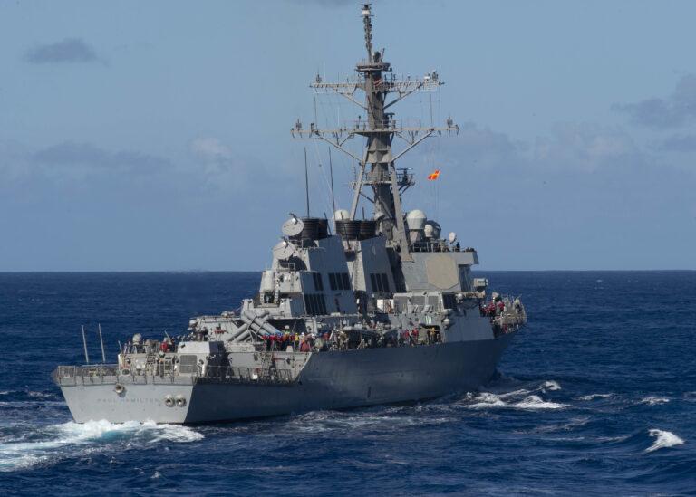 Arleigh Burke-class destroyer USS Paul Hamilton visits Singapore