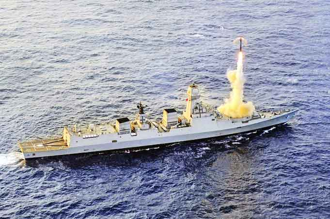 brahmos cruise missile test fired from ins kochi 2019 11 29 - naval post- naval news and information