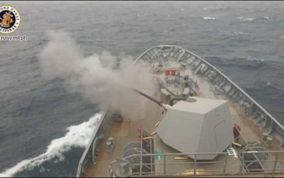 Philippines Navy succesfully tested first missile frigate's main gun