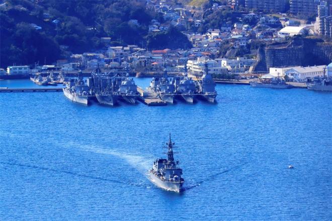 Japanese destroyer leaves Yokosuka port for Middle East mission