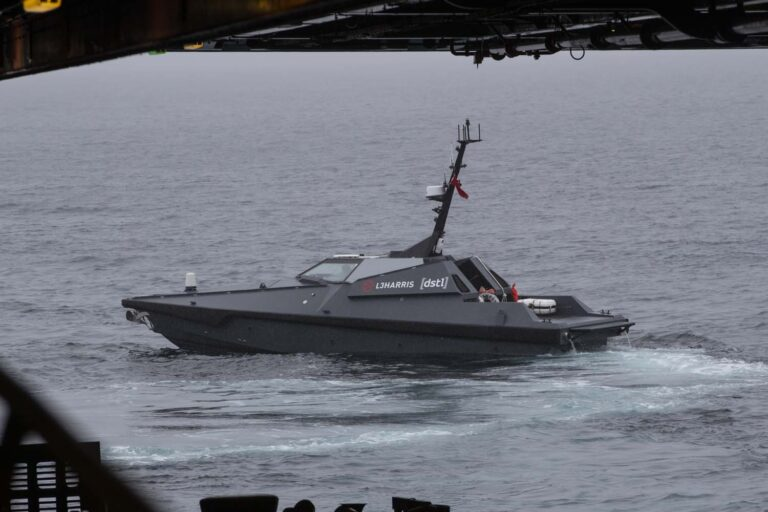 Royal Navy tests unmanned equipment in operational environment for the first time