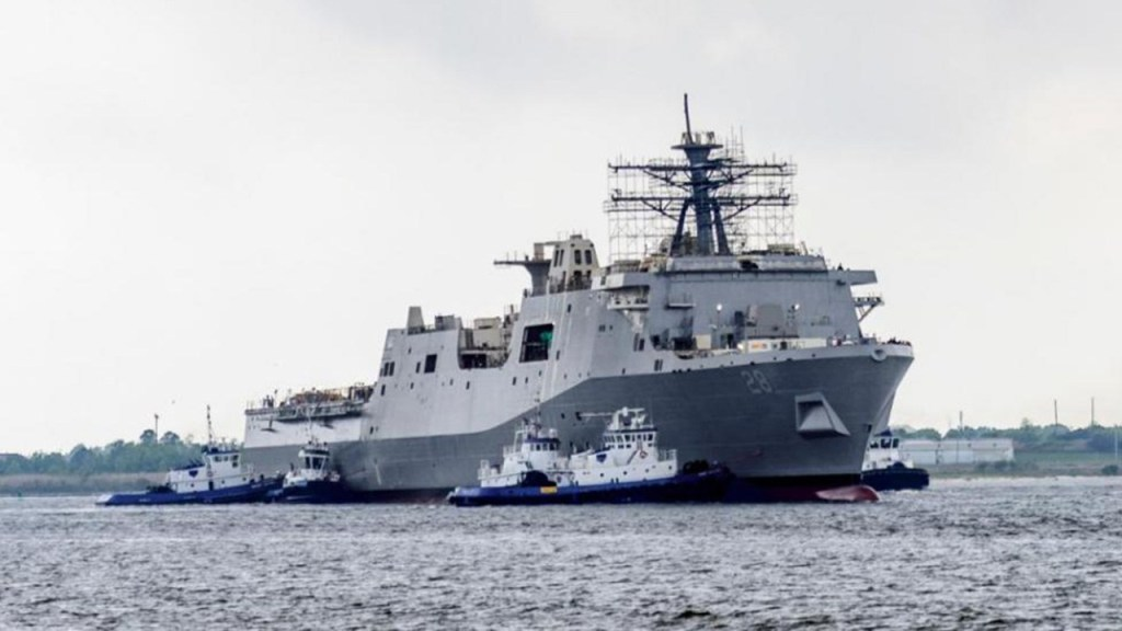 HII launched Future USS Fort Lauderdale Amphibious Transport Dock Ship