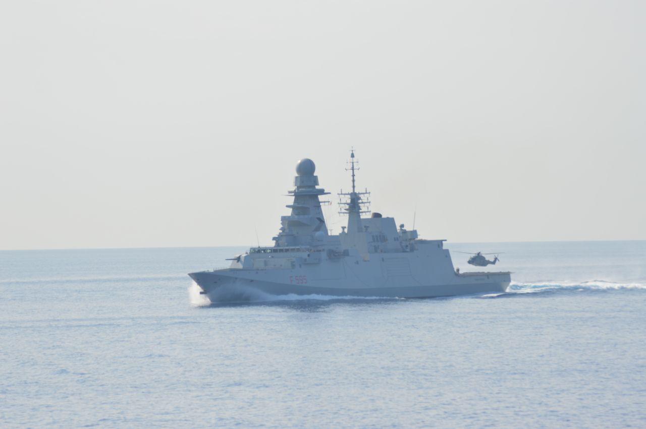 Italian frigate Luigi Rizzo foiled a pirate attack in the Gulf of Guinea