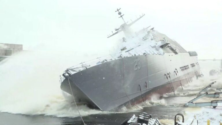 U.S. Navy christened future USS Cooperstown (LCS-23)