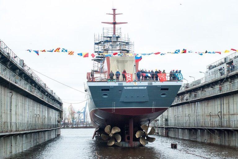 Severnaya Verf launches Retivy corvette of Project 20380